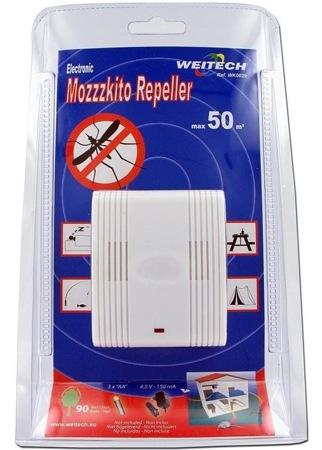 """Упаковка отпугивателя комаров """"Weitech WK0029"""" (кликните по фото для его увеличения)"""