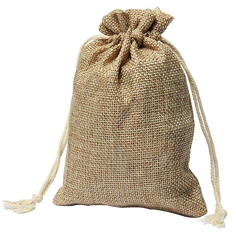 Мешочки джутовые 10х15 см - фото джутовый мешочек