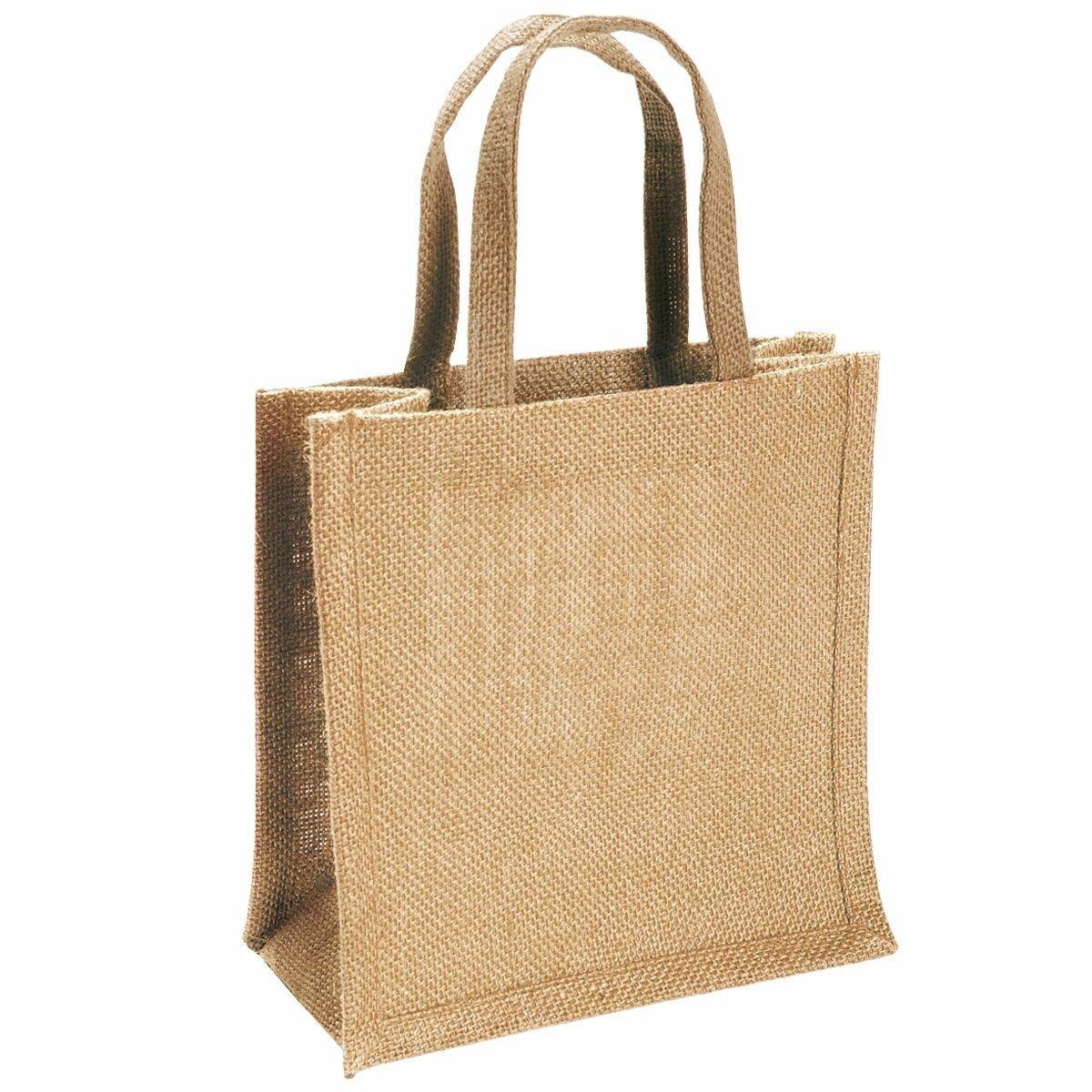 Сумка из джутовой ткани 45x35x14 см - фото джут сумка