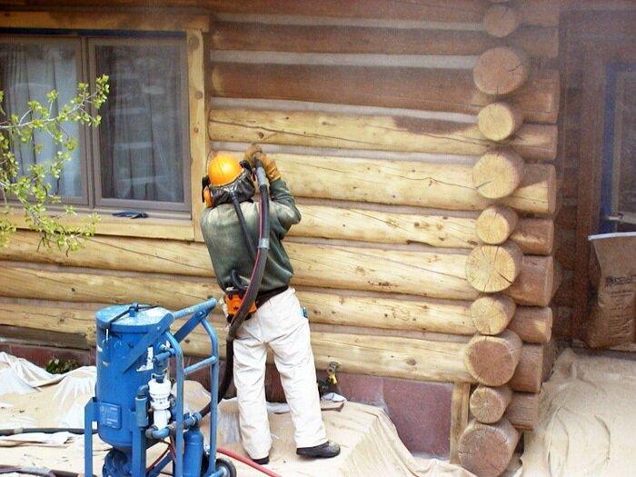 Отбеливатель для древесины PROSEPT 50 - 10 л - фото реставрация старого сруба