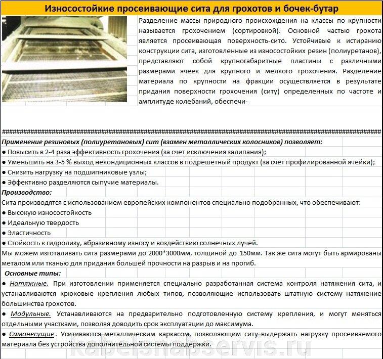 Сита (Просеивающие поверхности) резиновые износостойкие - фото pic_a4be111f7c3603a2ca42b3289fd102c6_1920x9000_1.jpg