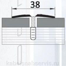 Алюминиевый профиль стыковочный, со вставкой - фото pic_5ecb09fca8bfe6f_700x3000_1.jpg