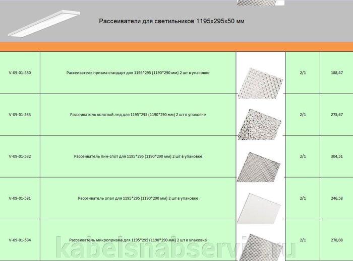 Рассеиватели для светильников 1195х295х50 мм - фото 1