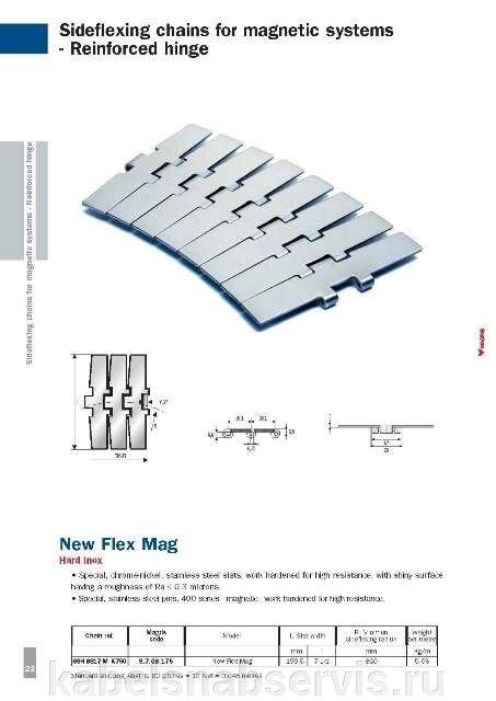 Пластинчатые цепи (пластиковые и металлические) MAGRIS - фото pic_74db0cc315df3ab_700x3000_1.jpg