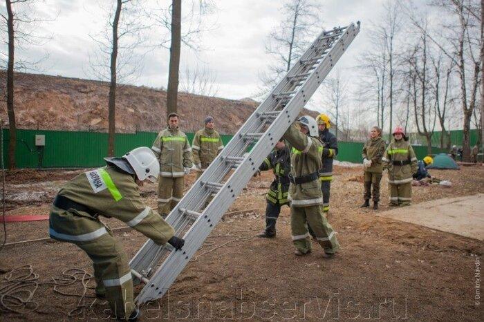 Лестница пожарная штурмовая металлическая, ручная трехколенная, пожарная-палка металлическая - фото 5