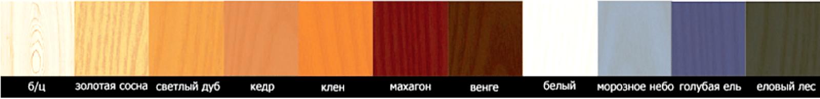 Цветовая палитра пропитка Bio Aqua