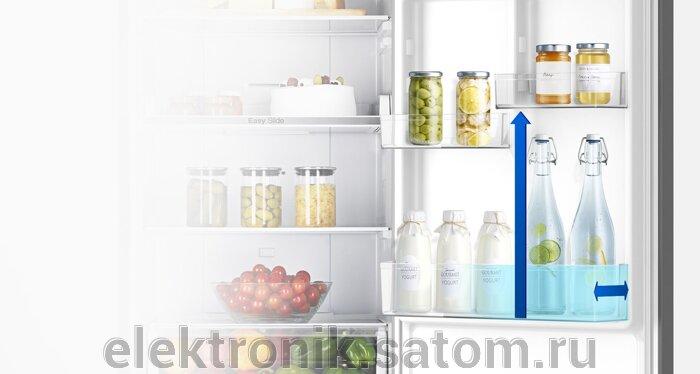 Холодильник Samsung RB30J3200SS,  серебристый (двухкамерный) - фото 4