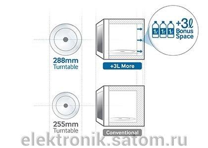 Микроволновая печь Samsung ME83KRS-2, 23 л, 800 Вт, серебристый - фото 1