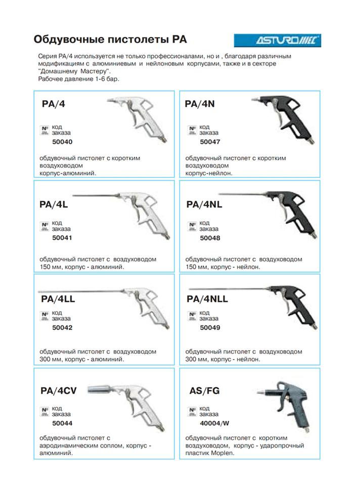 """Пистолет продувочный Profi Walmec с длинным носиком 150 мм. (вход 1/4"""") арт. 50048 PA/4NL - фото 1"""