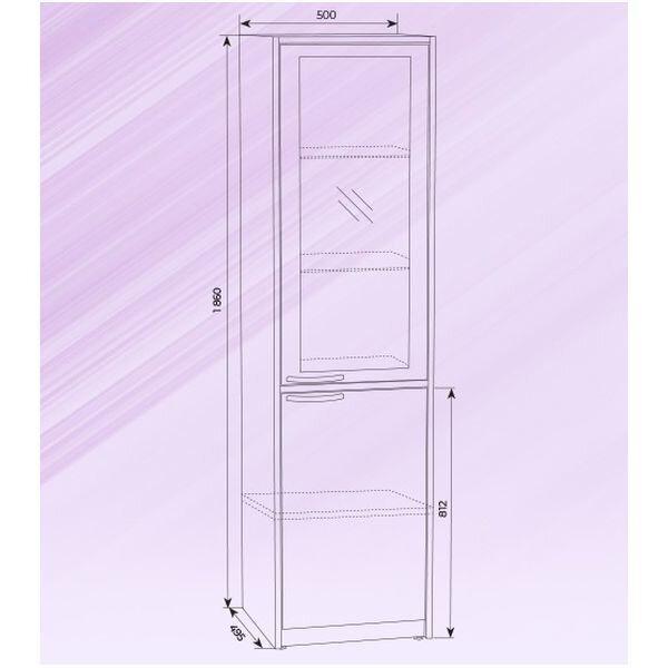 Шкаф медицинский металлический со стеклом ШРМ-1 - фото pic_6ce217a7933ae88843a10977305534f1_1920x9000_1.jpg