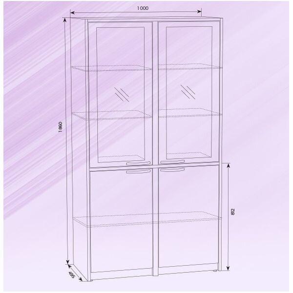 Шкаф медицинский металлический со стеклом ШРМ-2 - фото pic_2b6f5b4689b10af43681c53c1a8f4e35_1920x9000_1.jpg