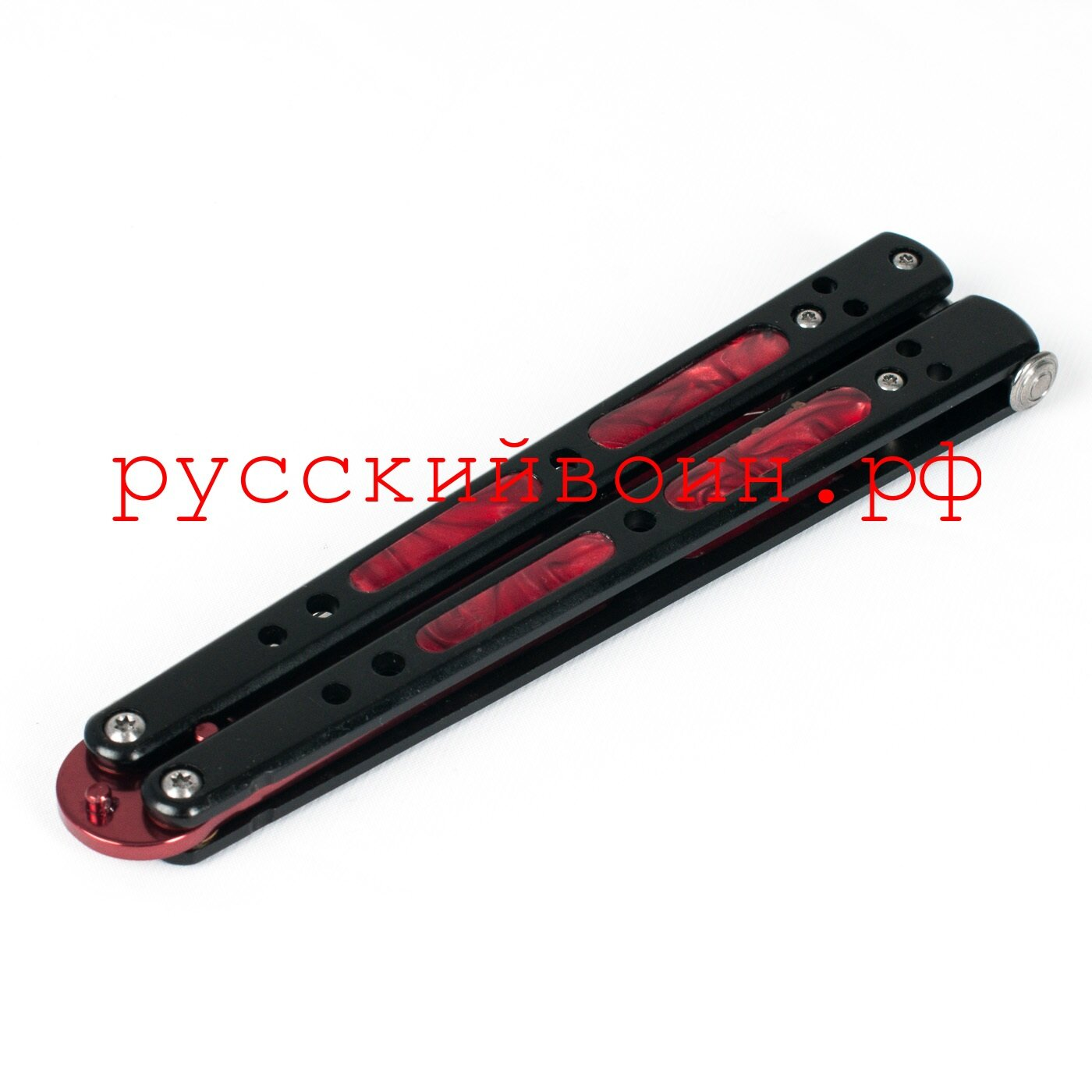 Нож-бабочка Черный Рубин