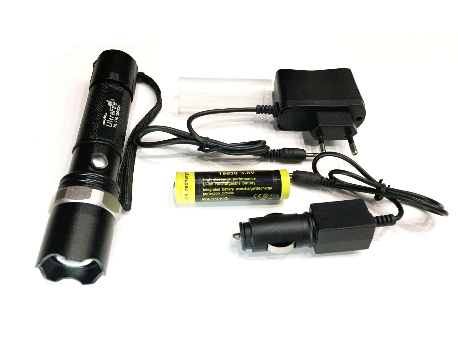 Ручной светодиодный фонарь SWATкомплектация