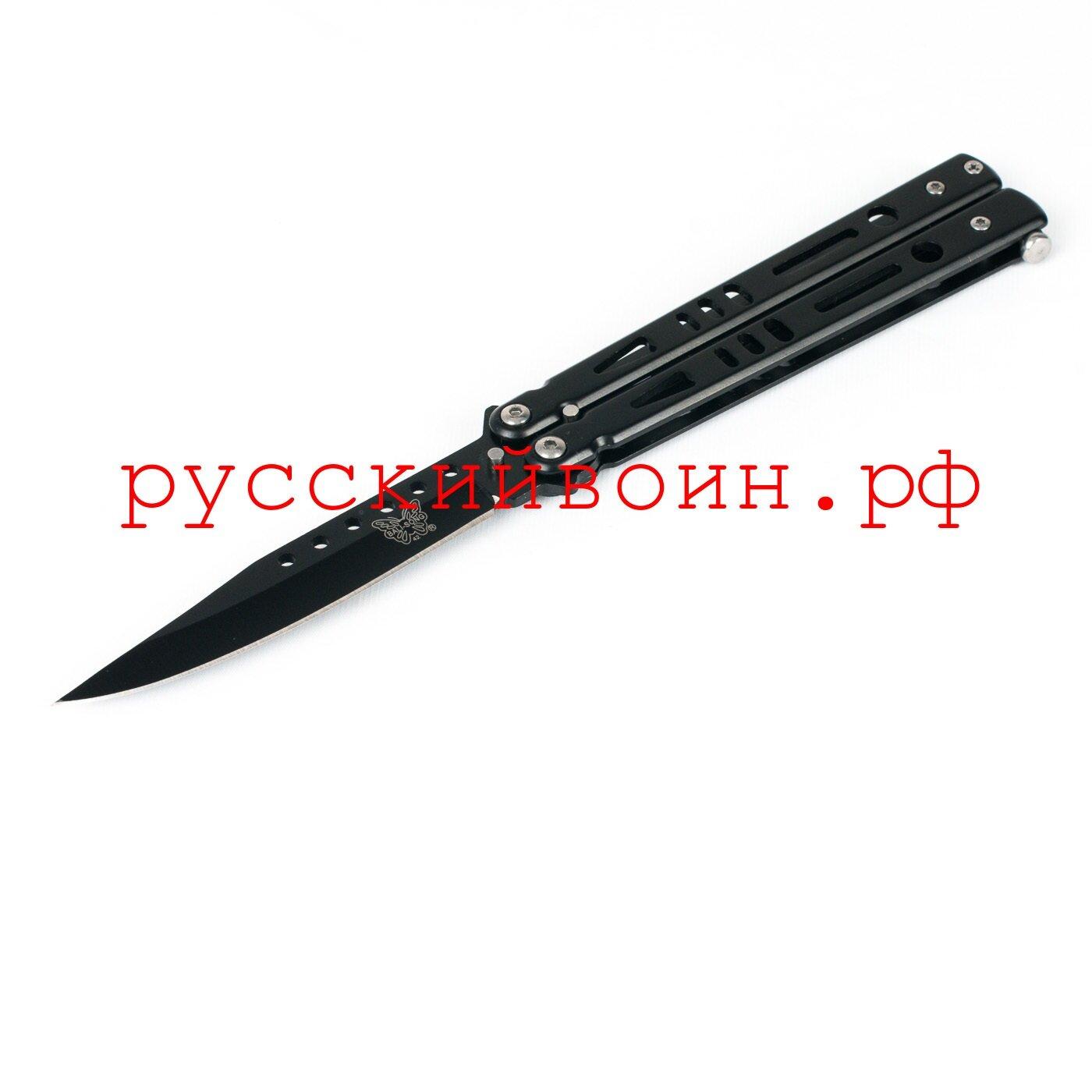 Нож-бабочка Черная Волна
