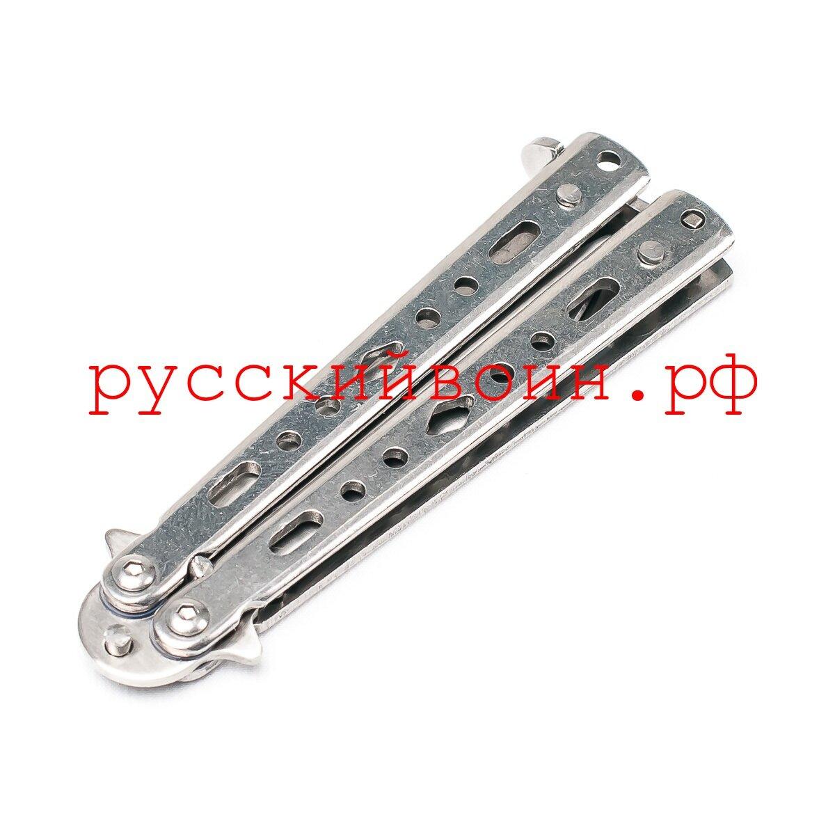 Нож-бабочка мини Silver Серебро