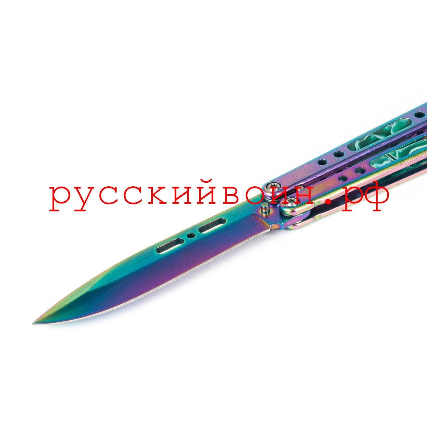 Нож-бабочка Изумруд Градиент