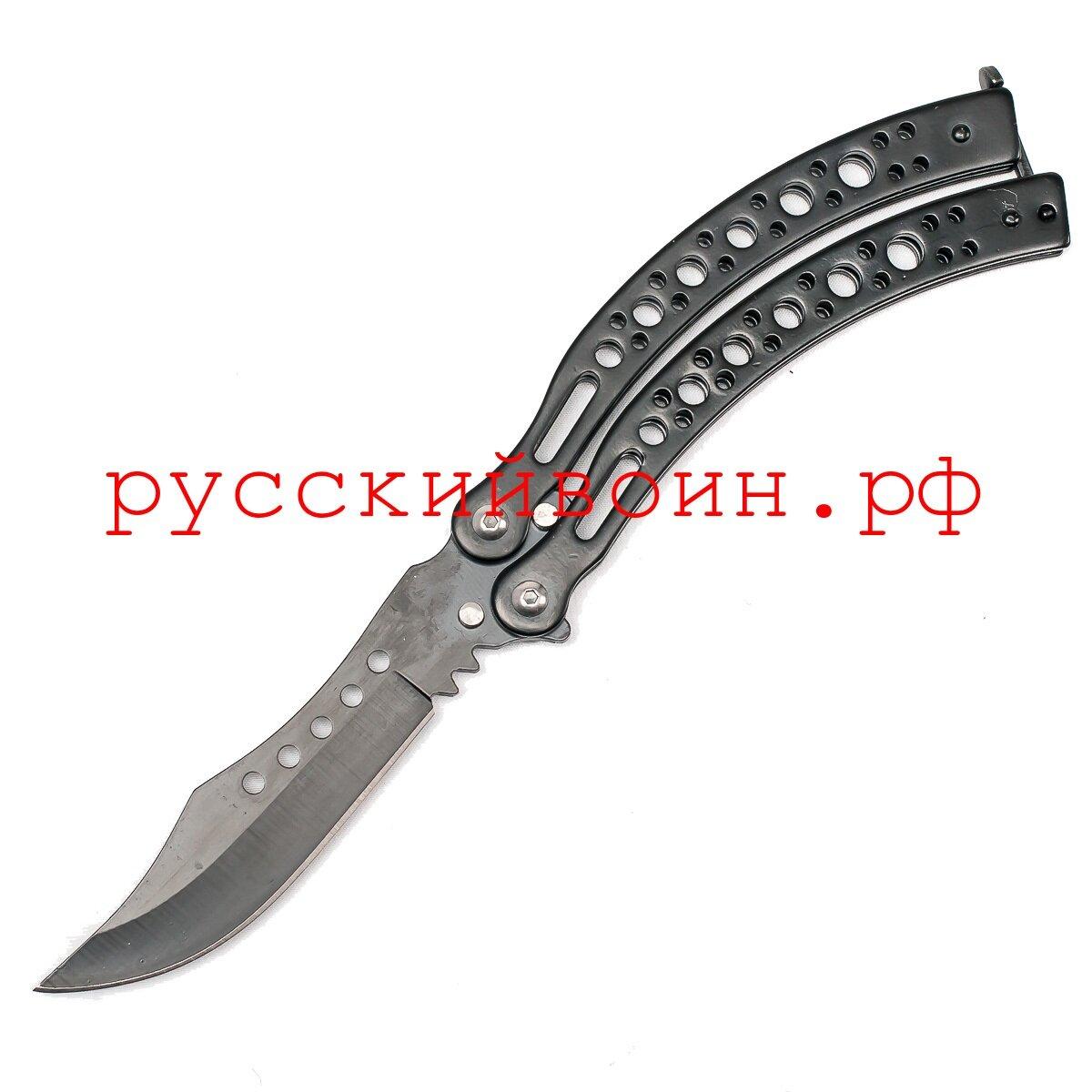 Нож-бабочка Черный Охотник