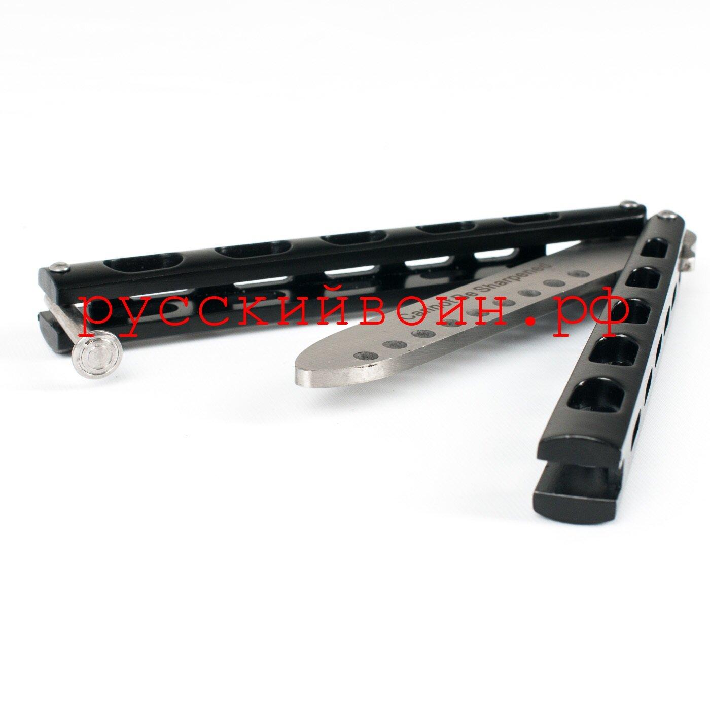 Тренировочный нож-бабочка Черный MK II