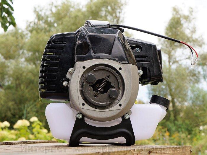 Двигатель двухтактный, бензиновый, 1.9 л. с., 43 куб. см. для веломотора - фото Сцепление центробежное 78мм для двигателя mitsubishi tb43