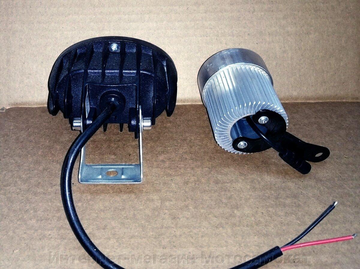 LED 20W линзованная сверх-яркая фара для электросамоката.
