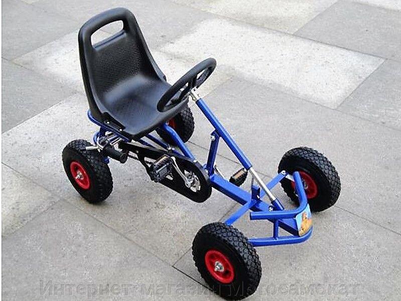 Веломобиль для детей (педальная машина), простой и крепкий. - фото Веломобиль для детей (педальная машина), простой и крепкий.