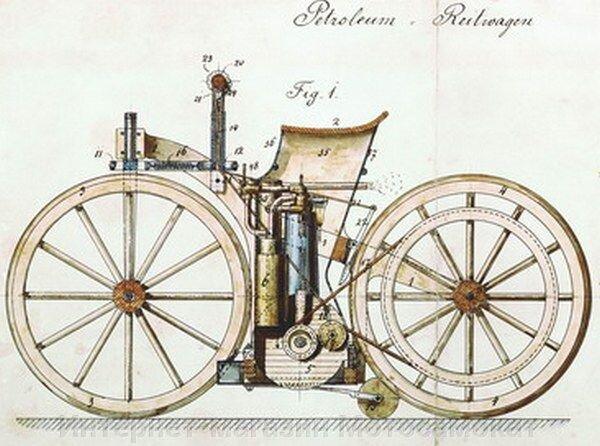 Первый в мире велосипед с мотором
