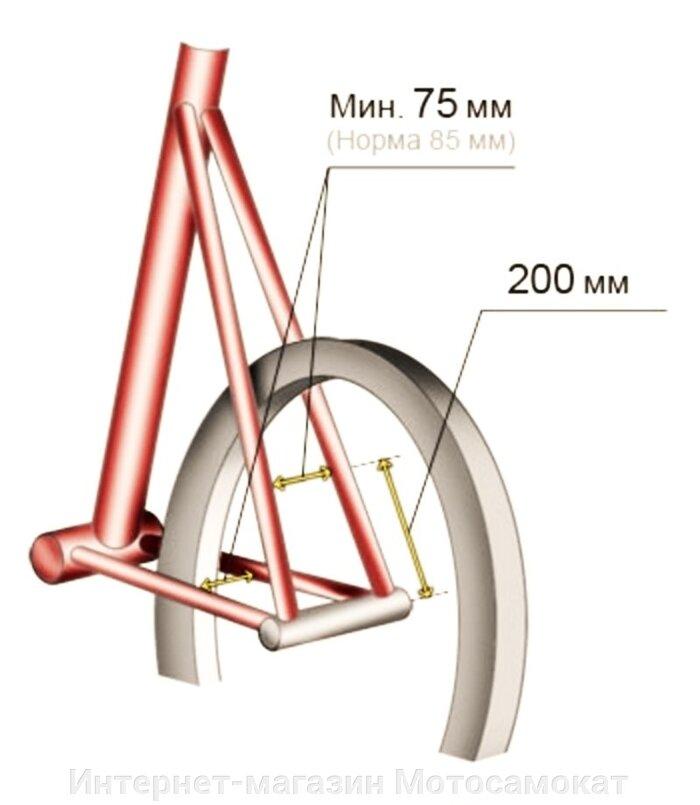 Веломотор КОМЕТА БЕЗ ДВИГАТЕЛЯ (с центробежным сцеплением)