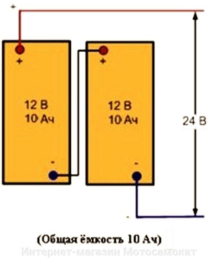 для его питания достаточно 24 вольта - это два последовательно соединенных свинцовых аккумулятора: