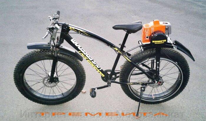 Фатбайк с мотором Fatbike-Trembita, Kometa-63cc.