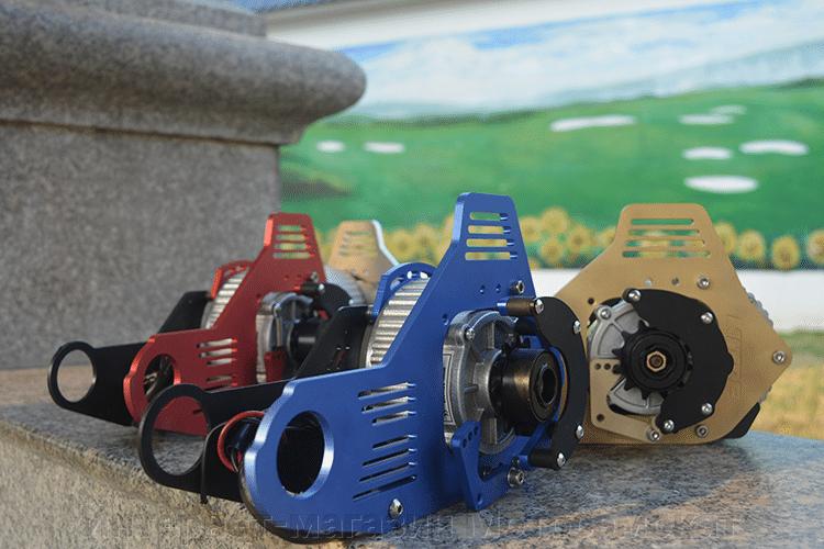 Веломотор центральный циклоп-1, коллекторный щеточный мотор, простое подключение