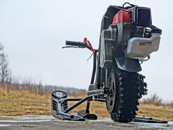 Редуктор 3:1 цепной, понижающий, для веломотора или снегоката - фото Детский снегоход снегокат Саша и Миша