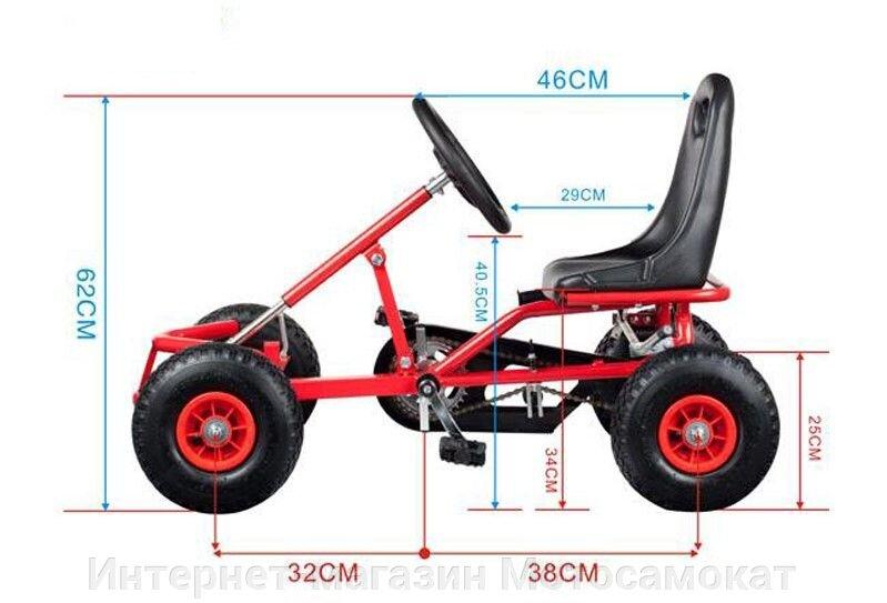Веломобиль для детей (педальная машина), простой и крепкий. - фото Детский веломобиль, педальная машина, четырехколесный карт
