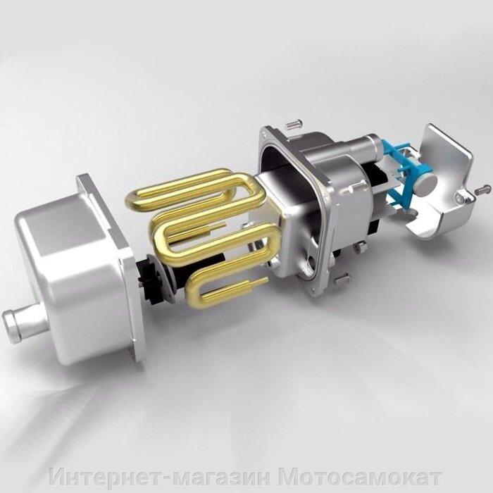 Мощность подогревателя 1550 Вт. Диаметр патрубков для шлангов 17 мм.