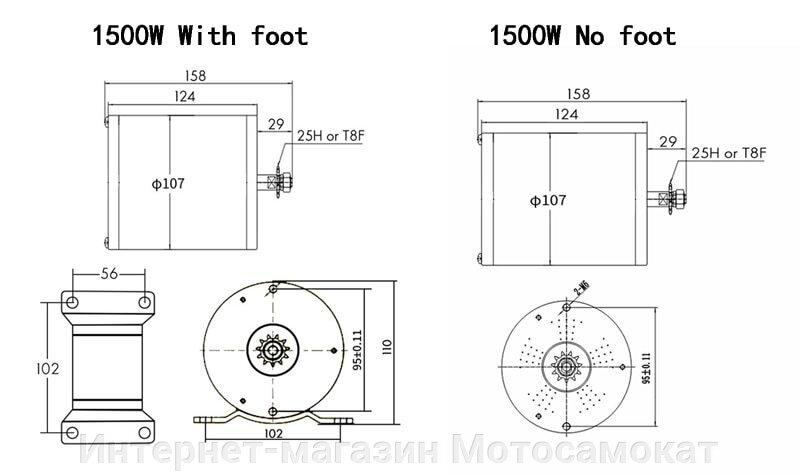 Характеристики BLDC электродвигателя 36 вольт 800 ватт для квадроцикла