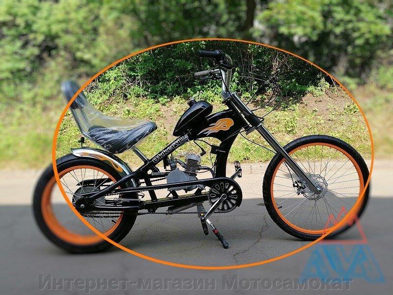"""Велосипед """"Чоппер"""" с бензиновым мотором F60, новый, в упаковке"""