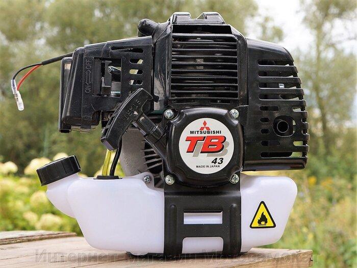 Двигатель двухтактный, бензиновый, 1.9 л. с., 43 куб. см. для веломотора - фото Двухтактный двигатель Mitsubishi TB43 (Япония) 1,9 л.с.