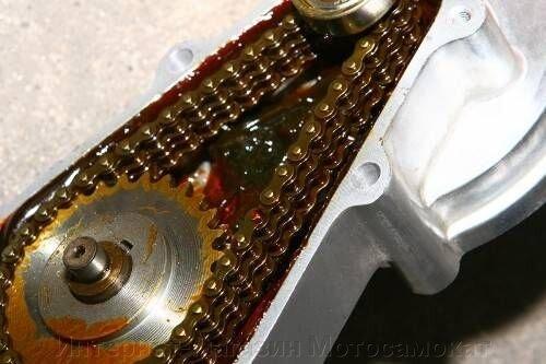 Редуктор 3:1 цепной, понижающий, для веломотора или снегоката - фото Редуктор 3:1 цепной, понижающий, для веломотора или снегоката