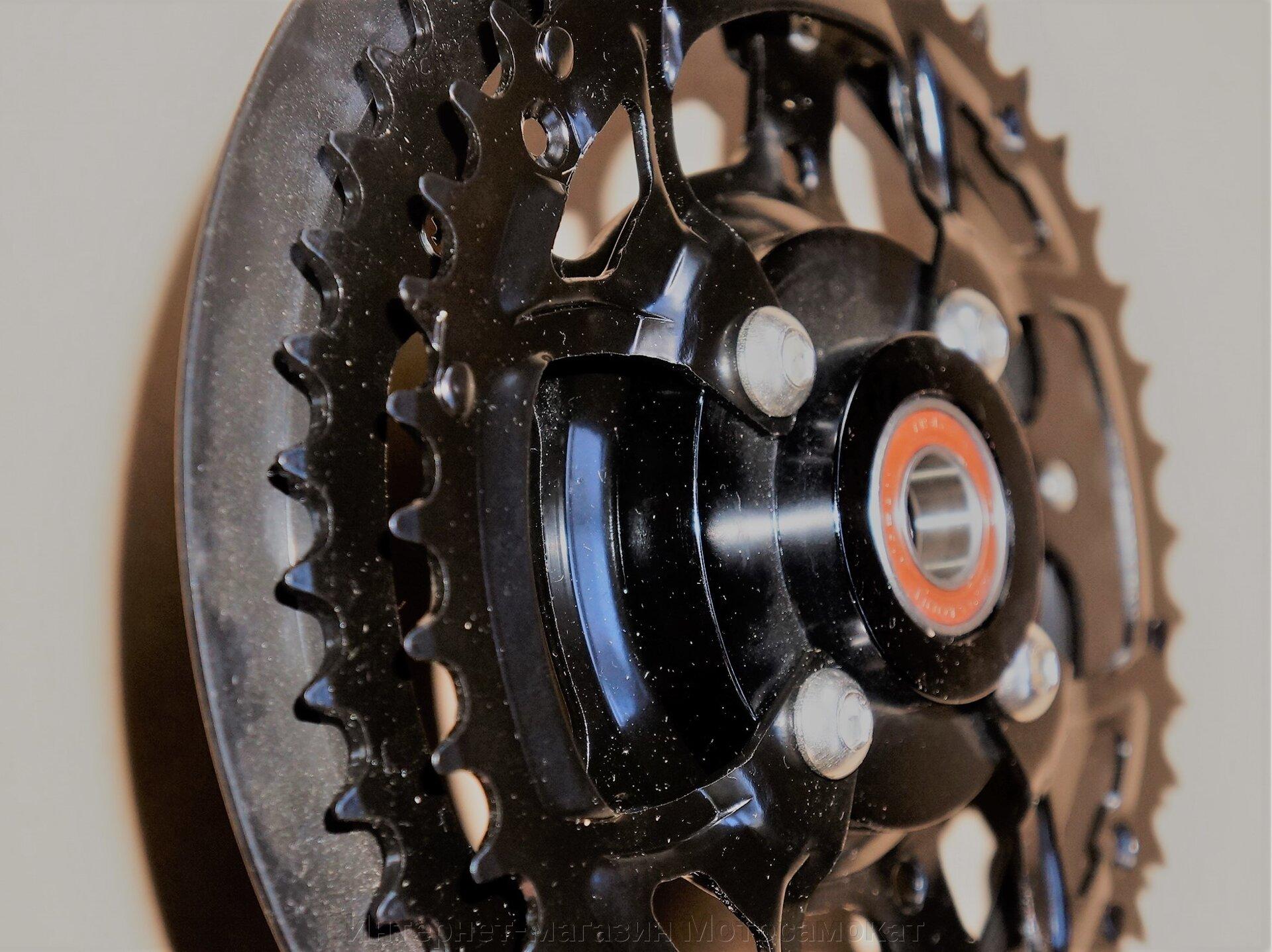Педальная система с обгонной муфтой для веломотора Циклон, Ф50-Ф80, Тандем.