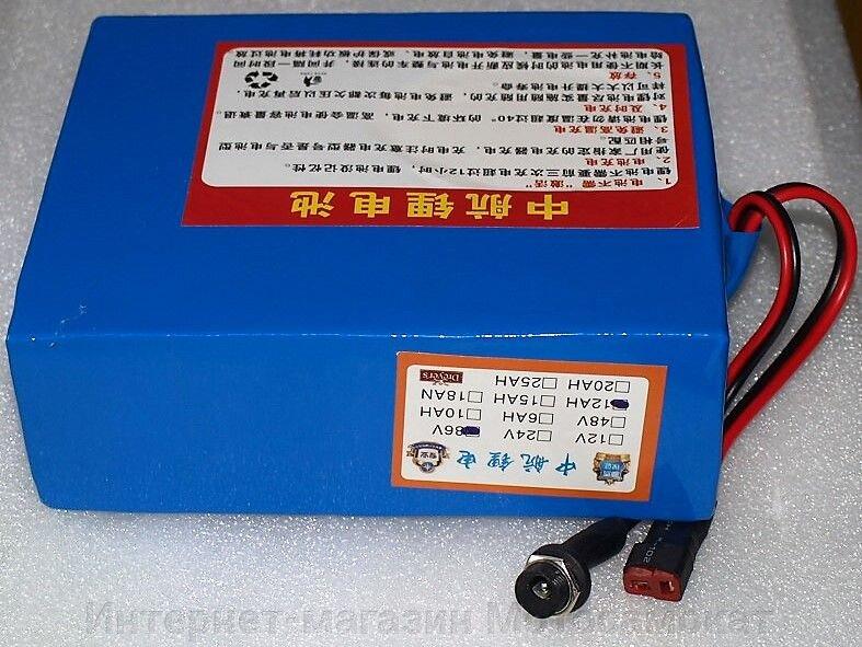 Аккумулятор Li-Ion 36v 12Ah + сумочка, для электровелосипеда - фото Отдельный порт для зарядного устройства и силовой разъем XT30, позволяет использовать аккумулятор с большим числом контроллеров.
