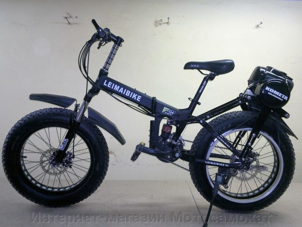 Складной Mini-Fat bike с колесами 20 дюймов и приводом на заднее колесо.