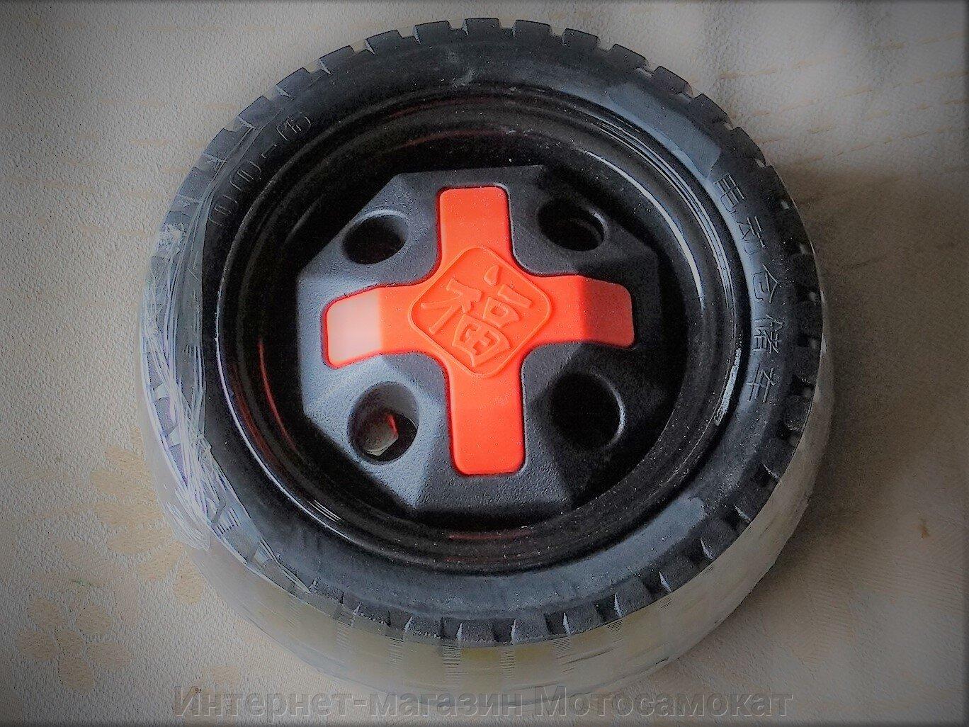 Литое колесо размерностью 4.00-6, с декоративным колпаком в комплекте: