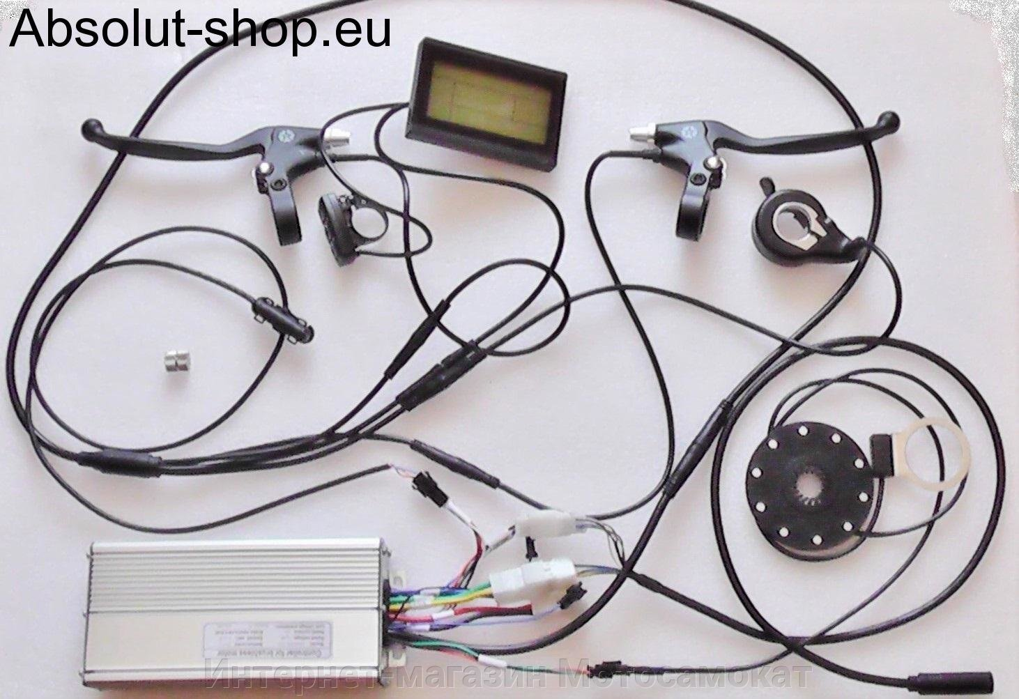 Контролер MXUS 48В 30А (KT48SVPRL-XFC15) + Дисплей KT-LCD3