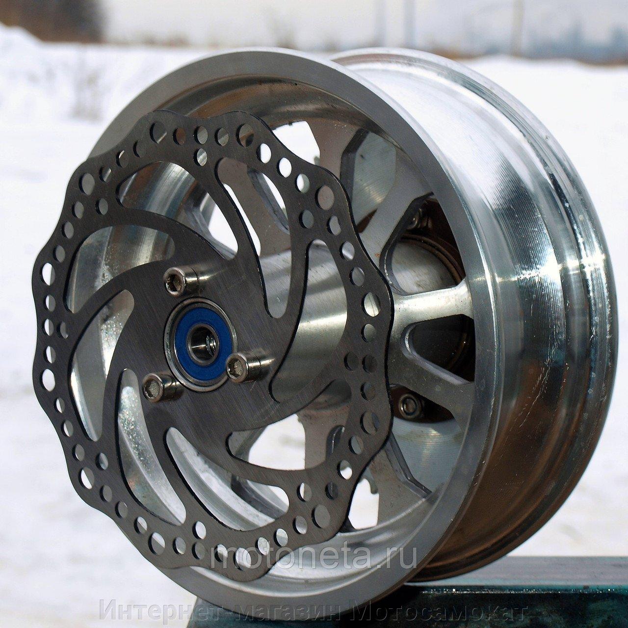 Литой диск 6.5 дюйма переднего колеса с тормозным ротором 140 мм.