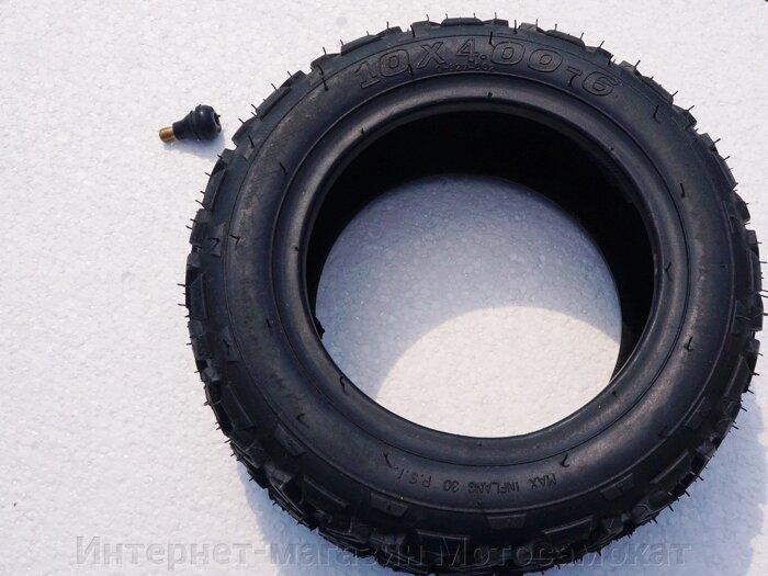 Покрышка (бескамерка), 10х4.00-6 для электросамоката Evo MK-01 - фото Покрышка (бескамерка), 10х4.00-6 для электросамоката Evo MK-01