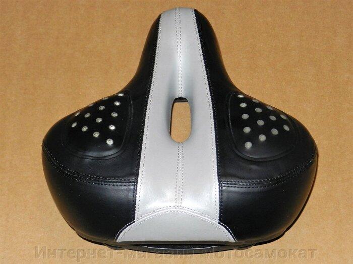 Благодаря широкому каналу в центральной части седла удается достичь минимального давления на зону простаты.