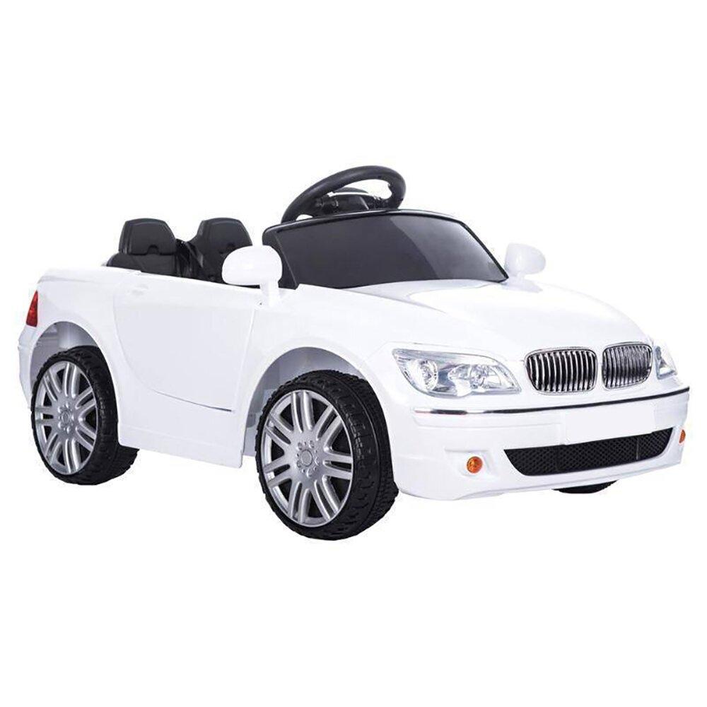 Машинка на аккумуляторе, 6V4AH*2, колеса EVA, цвет-белый, Р/У, свет, звук, мр3, открыв. двери, 108*58*33см, до 30 кг. - фото pic_6f3c1b545a9576d0a414e3ddac1c962e_1920x9000_1.jpg