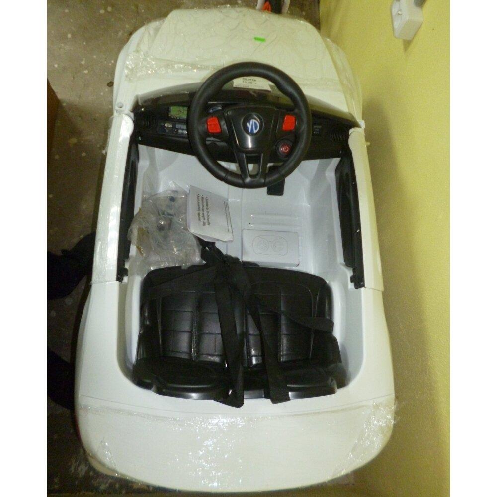 Машинка на аккумуляторе, 6V4AH*2, Р/У, колеса EVA, цвет-белый, свет, звук, открыв двери, 110*60*50см - фото pic_9b28aeb7788df3108bdcaaf9c4eb37c7_1920x9000_1.jpg