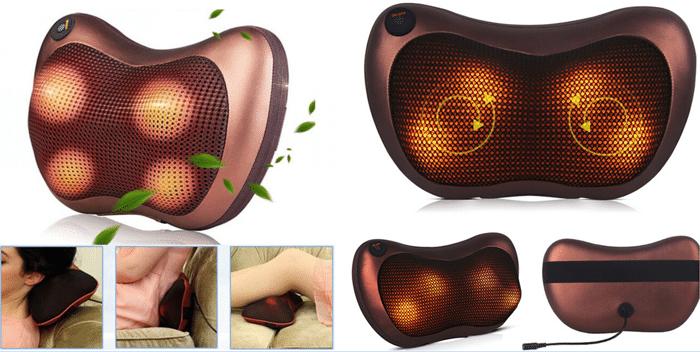 Массажная подушка с инфракрасным подогревом - фото Массажная подушка с инфракрасным подогревом