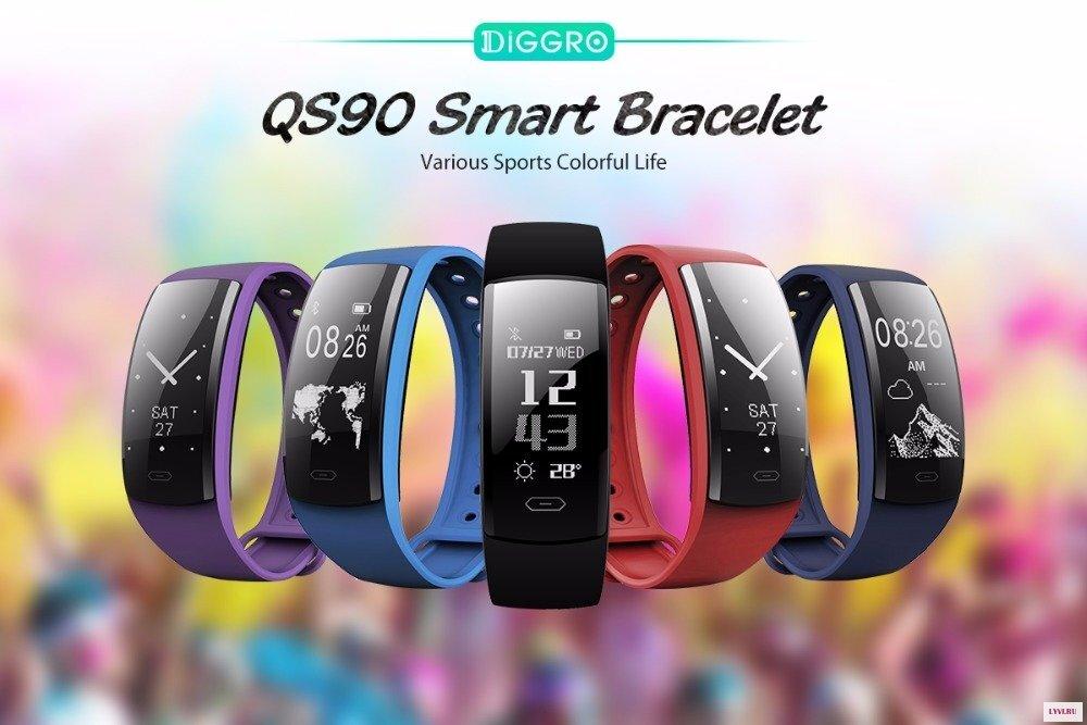 Смарт браслет Diggro QS90 (красный)