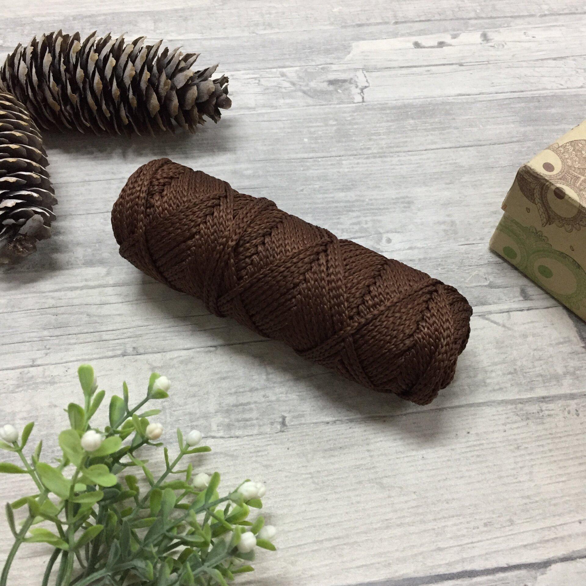 """Полиэфирный шнур для вязания 50м 3мм """"Тёмный шоколад"""" - фото pic_7531b17a7a647af80b593709923d0b6e_1920x9000_1.jpg"""